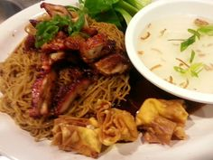 Wonton Noodle with Char Siu Chicken