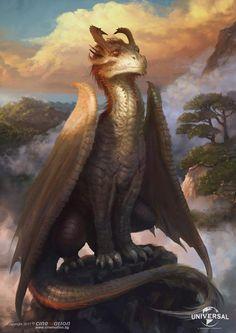 Dragon Art by Miroslav Petrov @ ArtStation.