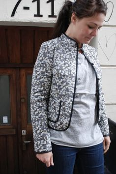 quiltet jakke - grå mitsi