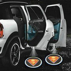 ZOZ 2pcs Wireless No Drill Type LED Laser Car Door Light Welcome Projector Light Logo Ghost Shadow Emblems Magnet Sensor Easy Installing (Superman) http://order.sale/bwRc (via Amazon)