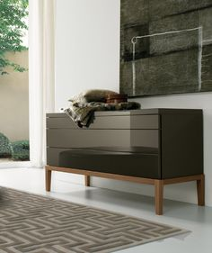 Elegance and boldness define De Ville dresser. It is a very sleek piece for a unique space. Bedroom Dressers, Dresser As Nightstand, Nightstands, Contemporary Bedroom Furniture, Contemporary Mirrors, Modern Mirrors, Modern Dresser, Furniture Inspiration, Furniture Ideas