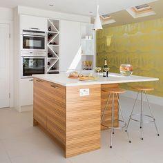 estilo de cocinas modernas con tope de madera buscar con google