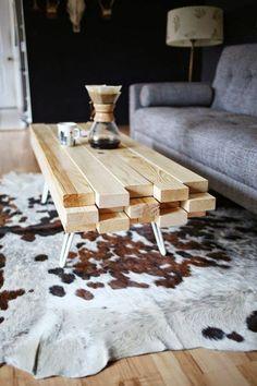 diy moebel wohnideen selber machen tisch aus holz grauer sofa