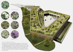 Landscape Gardening On Finance Landscape Model, Landscape Architecture Design, Green Architecture, Architecture Portfolio, Concept Architecture, School Architecture, Sustainable Architecture, Hospital Design, Green Building