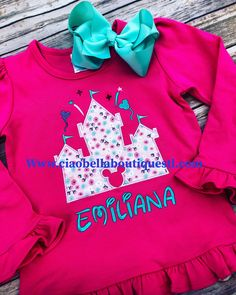 0b4cf6c9ecd Ciao Bella Boutique · Children Monograms · How cute is this Floral Castle  shirt! Tags