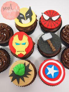 Marvel Heros fondant cupcake toppers, birthday cupcakes, Gallery