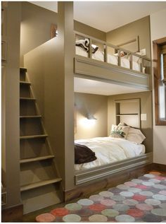 Sandra @ ribbonsandfavors.com Inspiration photo. A bunk bed that is not really a bunk bed.