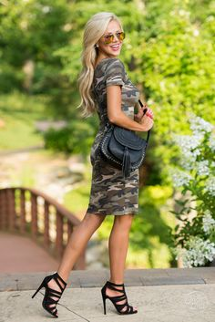 Citified Camo Bodycon Dress
