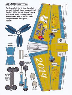 New Years Me 109 Paper Model