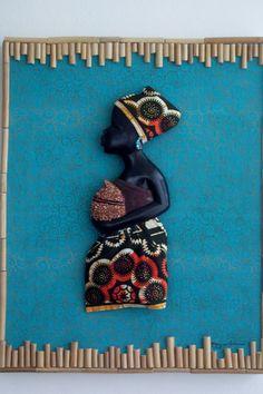 Lady African Woman African Art Black Art by Boriquahafrikanah