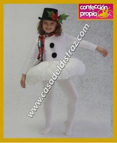 Disfraz de Muñeco de Nieve para niña. #Disfraces #Navidad www.casadeldisfraz.com
