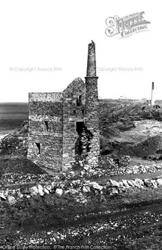 Pendeen, Wheal Edward At Botallack c.1960. A location filmed as part of the new #BBC series of #Poldark. #Cornwall.