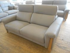 #efo #modica large sofa in grey leather L906