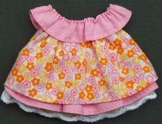 TWAG*DEBBIE* FLOWER  BOUTIQUE BABY GIRL DRESS FOR TEAR BEAR PREMADE SCRAPBOOK