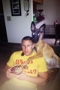 She thinks she's the only woman in Kyle's life. Belgian Malinois puppy