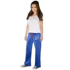 Touch by Alyssa Milano New York Rangers Ladies Star Player Burnout Pants - Royal Blue