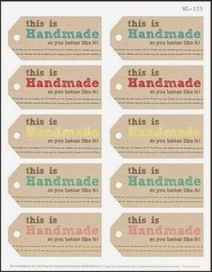 Harris Sisters GirlTalk: Free Printables for Handmade Christmas Gifts Knit and Crochet Gift Tags; include handmade date Gift Labels, Gift Tags Printable, Labels Free, Funny Christmas Messages, Handmade Christmas Gifts, Xmas Gifts, Handmade Tags, Christmas Printables, Free Printable Christmas Tags