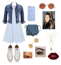 """""""Sin título #65"""" by soypaolarolon on Polyvore featuring Belleza, Ted Baker, maurices, Converse, Nanette Lepore, Oliver Peoples y Lime Crime"""