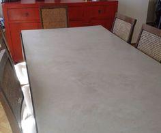 Mesa de cemento alisado