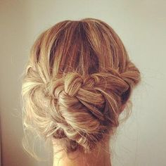 Thick Braid Updo - Hairstyles and Beauty Tips