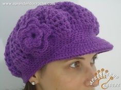 40 New Ideas For Crochet Hat Free Pattern Beret Bonnet Crochet, Crochet Beret, Crochet Cap, Love Crochet, Easy Crochet, Crochet Stitches, Knitted Hats, Crochet Patterns, Crochet Hat Tutorial