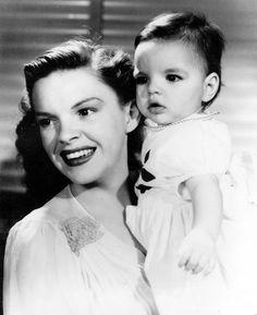 Judy Garland avec sa fille Liza Minnelli