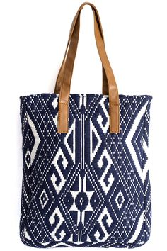 Carry everything you need in this beautifully textured tote.