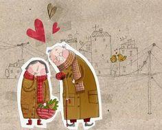 14 FEBRERO - Feliz día de San Valentín a todos y todas :) (Ilustración de Susana Hoslet)