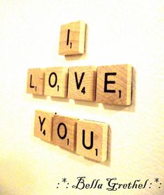 Scrabble Your Messages Honey Colored Custom by BellaGrethel, $12.00
