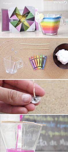 Este tutorial es para aprender a hacer coloridas velas decorativas. ¡Te encantará! Da click para ver el video.
