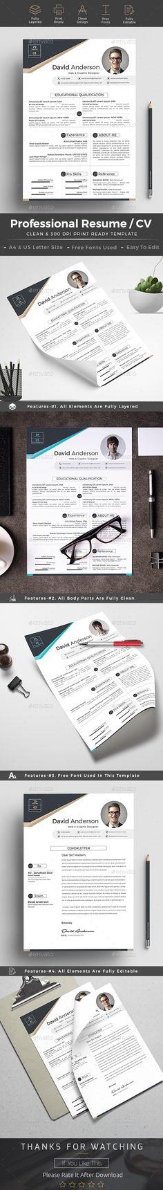 Resume / CV Pinterest Resume cv, Cv template and Template