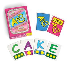 A to 3 - Spelling Card Game - Card Games - MaxiAids  Earn points spelling out words w/lettered game cards Accessible design for low vision players For ages 8 to infinity Can be played with 2 to 5 players Includes 100 cards, score sheets & storage box