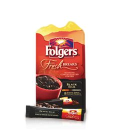 Unbelievably bold, yet exceptionally smooth flavor ready whenever, wherever you are. Folgers Fresh Breaks Roasted Concentrated Coffee in convenient single serve packets with premium roasted ground coffee flavor.