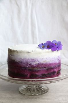 Blueberry Cake with Coconut Frosting (gluten-free & vegan) - Nirvana Cakery