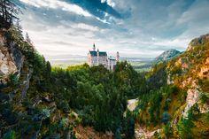 Neuschwanstein Castle by: Konstantin Kryukovskiy Beautiful Castles, Beautiful Places, Disney Cinderella Castle, Germany Castles, Neuschwanstein Castle, Haunted Places, Kirchen, Wonders Of The World, Travel Photos