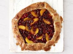 Cherry and Peach Galette Recipe | Food Network Kitchen | Food Network