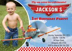 Disney Planes Birthday Party Invitation - Printable File