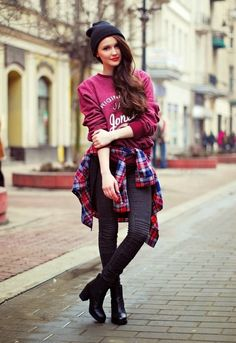 I love flannels! spring, summer, fall& winter. I'm usually wearing a flannel this is my favorite way though