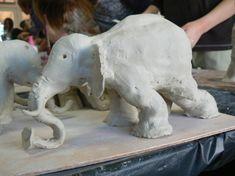 Modelages en argile animaux d'Afrique - CM1 CM2 Ecole de Clairefontaine - 2009 2010