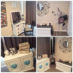 Dressing room using re purposed items.