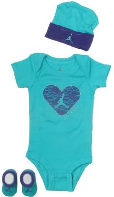 Jordan Baby Clothes Lace Heart Set for Baby Girls (One Size 0-6 Months) $19.95 (save $6.05)