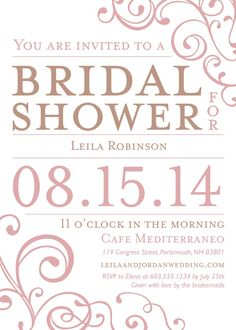 Wedding Shower Invitation - Happiness & Joy --Kleinfeld Paper