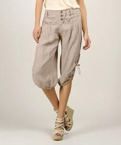 Look at this #zulilyfind! Mole Linen Capri Pants by 100% LIN #zulilyfinds