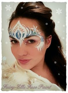 Frozen Design - little girls will love this! Lets add a heart in there:) #facepainting
