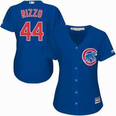 Womens Chicago Cubs #44 Anthony Rizzo Majestic Royal Alternate Cool Base Jersey