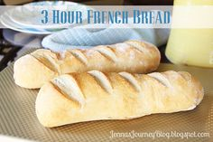 3 Hours to Delicious French Bread!    A replacement for all those one hour recipes that don't work!