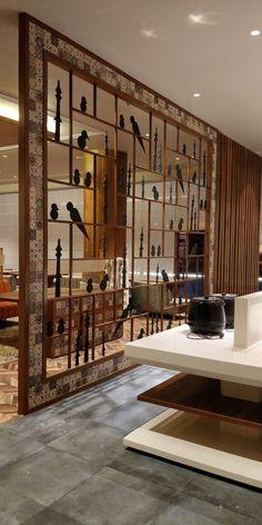 Foyer Design, Home Room Design, Home Interior Design, Living Room Designs, Interior Decorating, House Design, Divider Design, Living Room Partition Design, Room Partition Designs