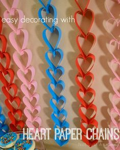 How To Make Heart Paper Chains