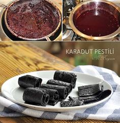 Karadut Pestili Tarifi Fresh Seafood, Fish And Seafood, Turkish Recipes, Italian Recipes, Mulberry Recipes, Turkey Today, Turkish Sweets, Turkish Kitchen, Fish And Meat