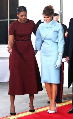 Melania Trump's GORGEOUS Inaugural Outfit.  Wow!! What a HUGE contrast between looking classy & looking dumpy, frumpy!!